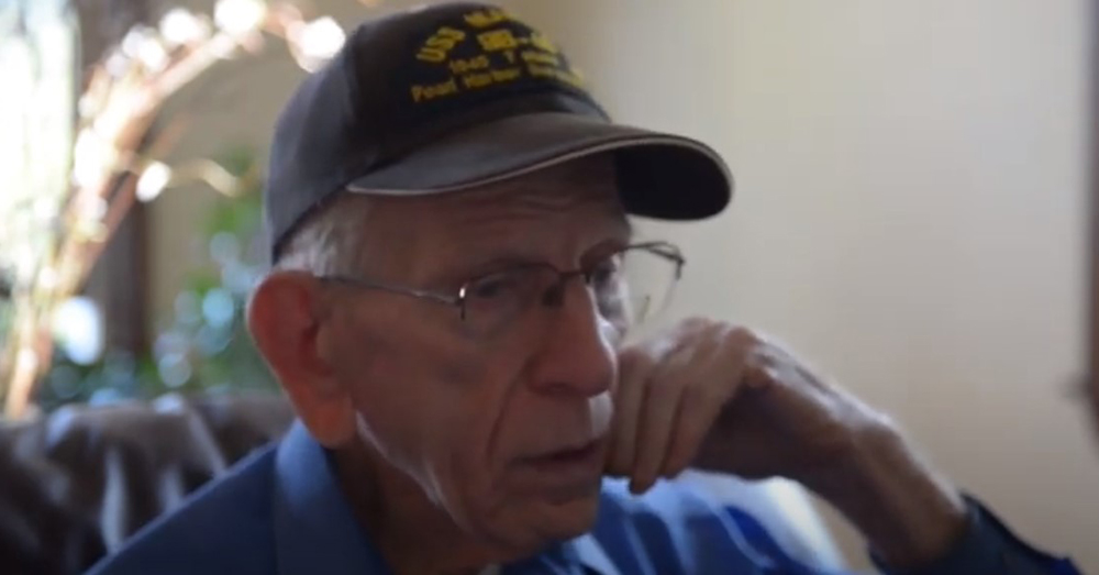 The WWII veteran lived to be 99 years old.