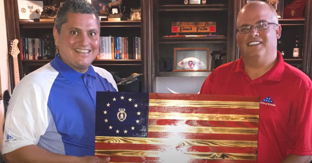 Morgan set a goal of making a wooden flag for veterans in all 50 states.