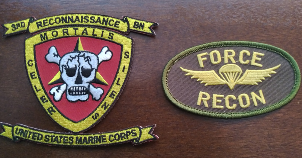 The patch worn by Marine Reconners.