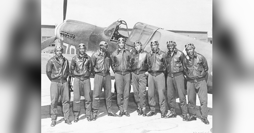 Tuskegee Airmen - Circa May 1942 to Aug 1943 Location unknown, likely Southern Italy or North Africa.