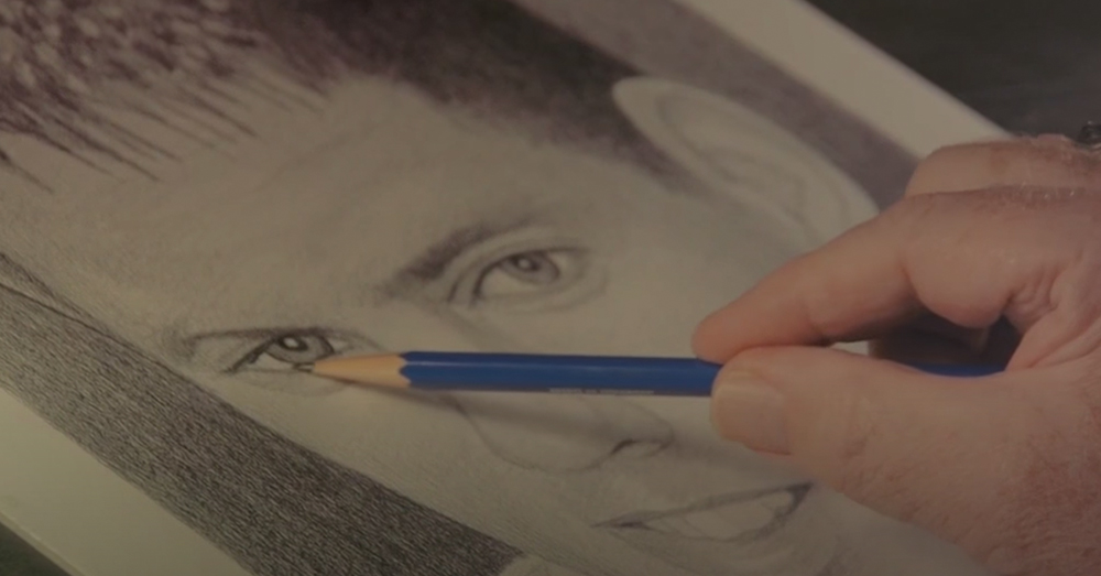 Reagan has drawn thousands of portraits in his lifetime.