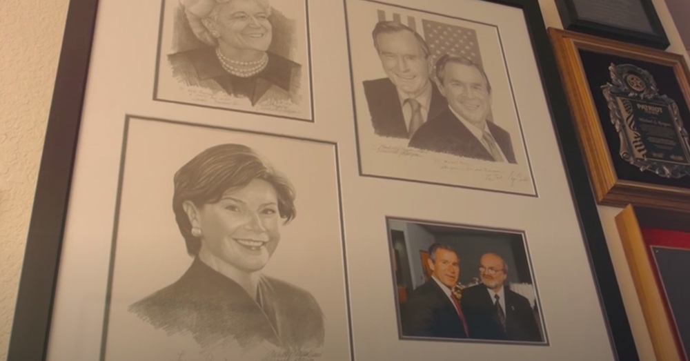 Reagan has drawn portraits of former presidents and everyday people he meets.