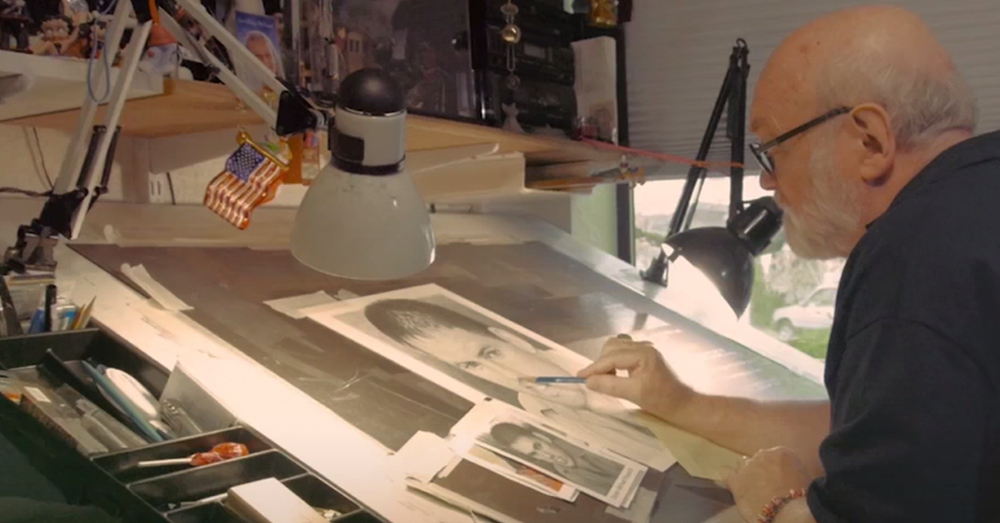 Reagan draws beautiful portraits of fallen heroes free of charge.