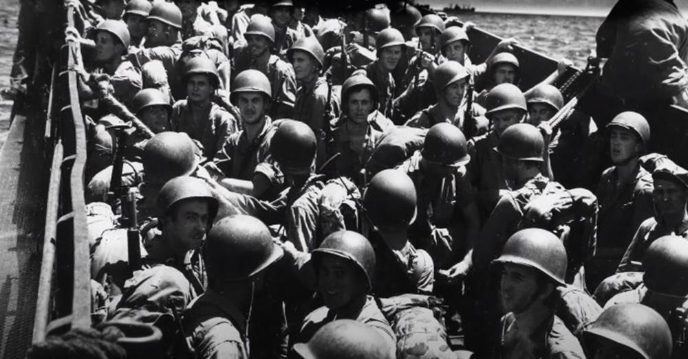 Marines liberated Guam in World War II.