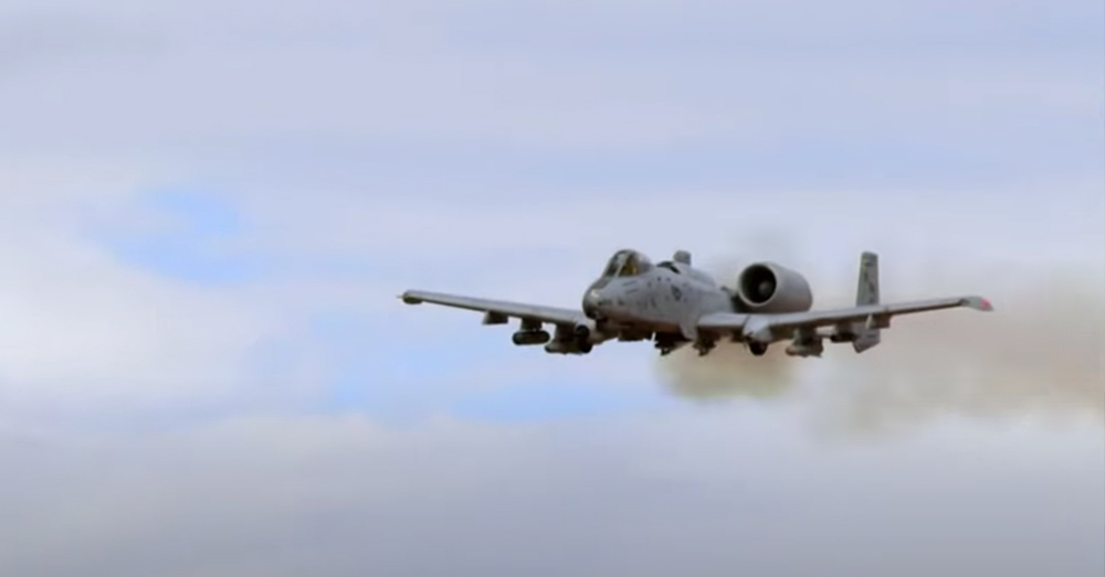 The A-10 Warthog has a commanding presence in the air.