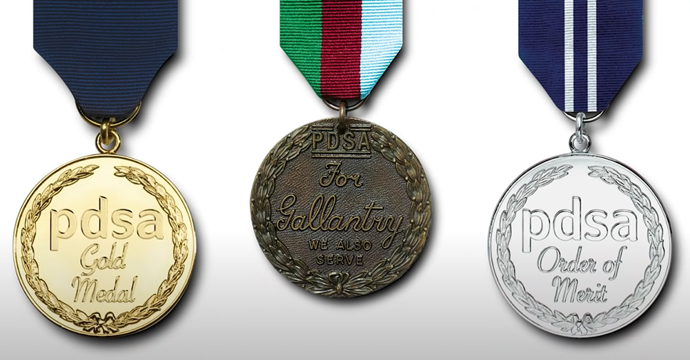 The PSDA medal is the animal equivalent of the George Cross in the UK.