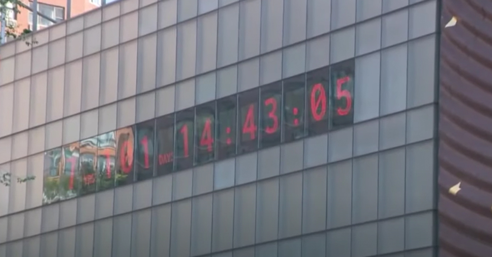 The Climate Clock was installed in New York City's Union Square.