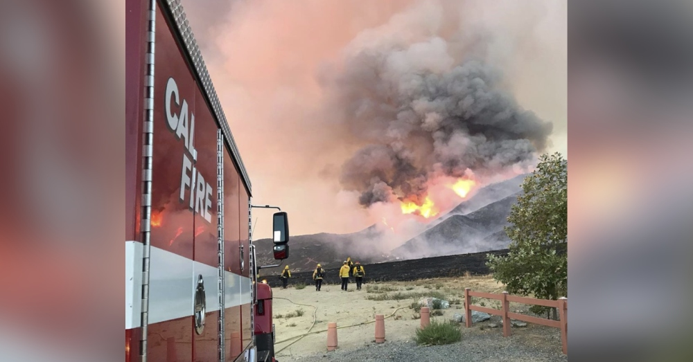 About 10,000 acres of California forest have been affected by the wildfire.