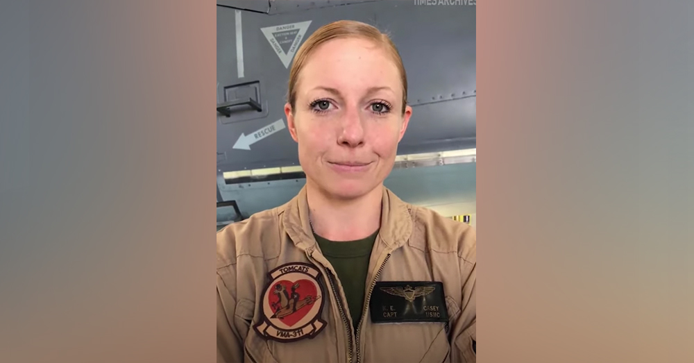 Capt. Kelsey Casey is a pilot with the US Marine Corps.