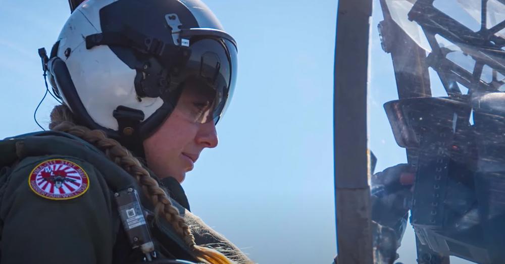 Capt. Casey is the only female AV-8B Harrier jet pilot in the Marines.