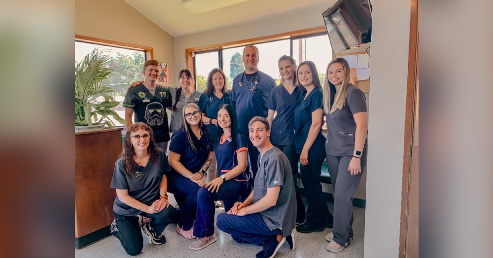 The staff of the Phoenix Animal Hospital helped get the animals to safety before the Almeda fire arrived.