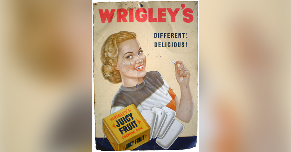 Juicy Fruit was a popular gum among GIs in World War II.