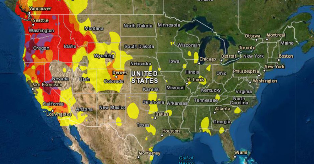 The Air Quality Index in some parts of the western United States is the most dangerous on record.