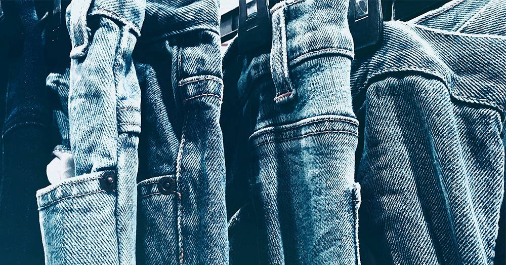 One pair of denim jeans can release as many as 56,000 microfibers.