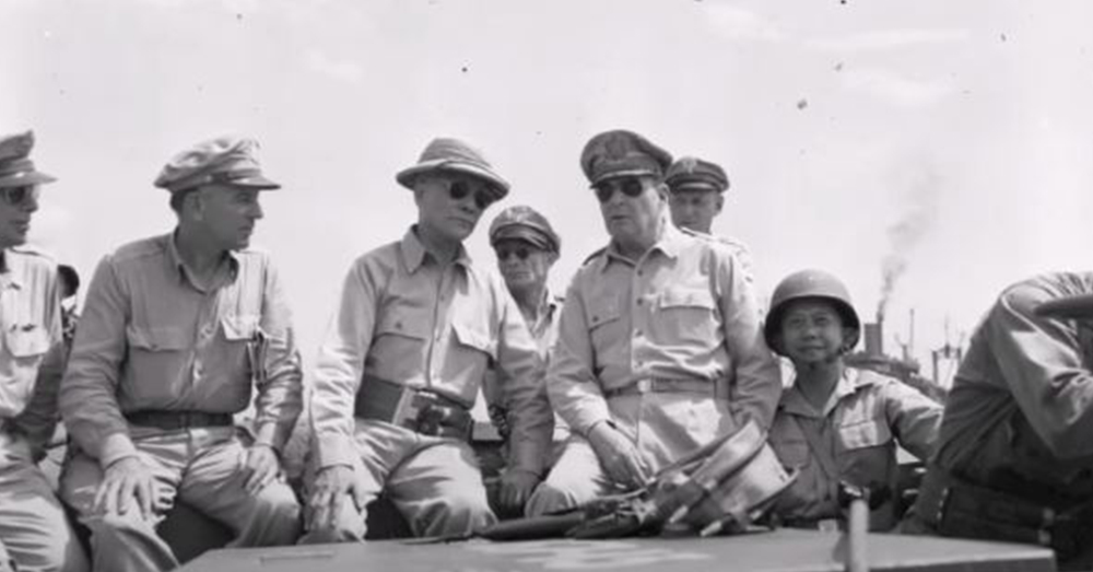 When MacArthur left he made a promise to the Philippines saying,