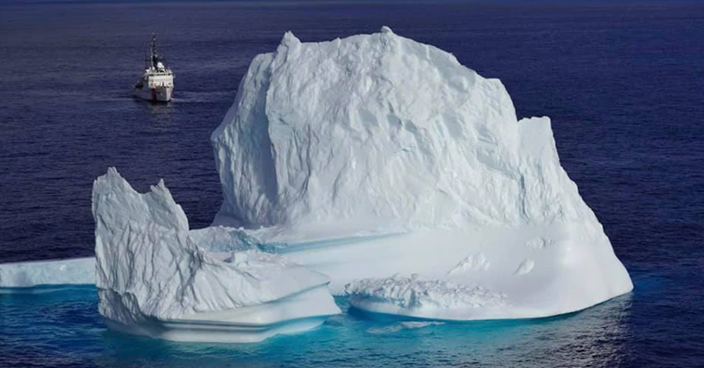 An iceberg off the coast of Greenland.
