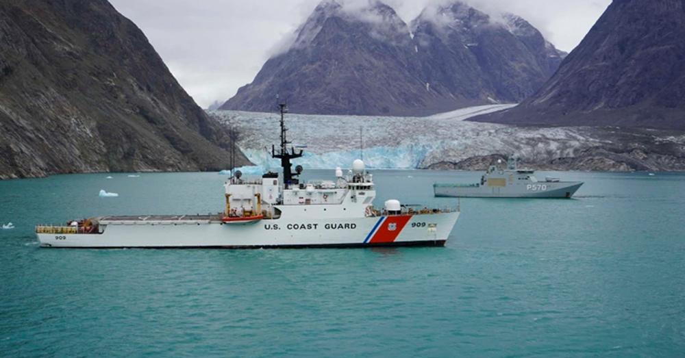 The U.S. Coast Guard Cutter Campbell.