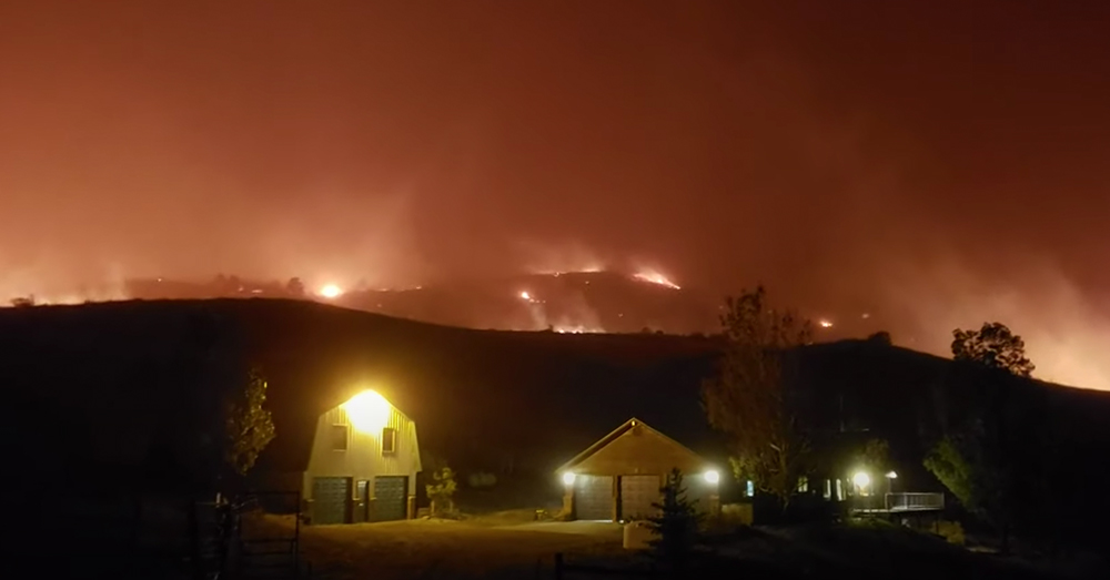 Ten wildfires are currently burning forests and residential communities in Colorado.