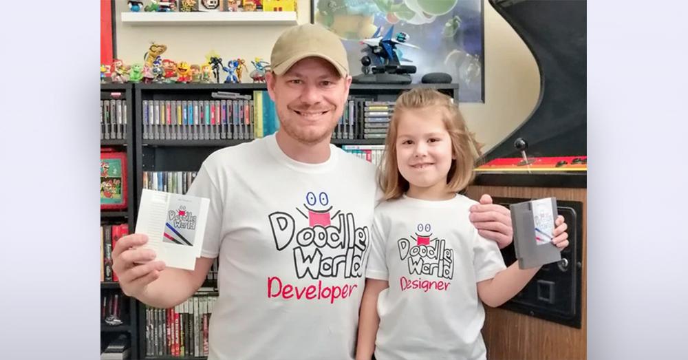 Air Force Veteran Nate Peters and his daughter Araceli, creators of