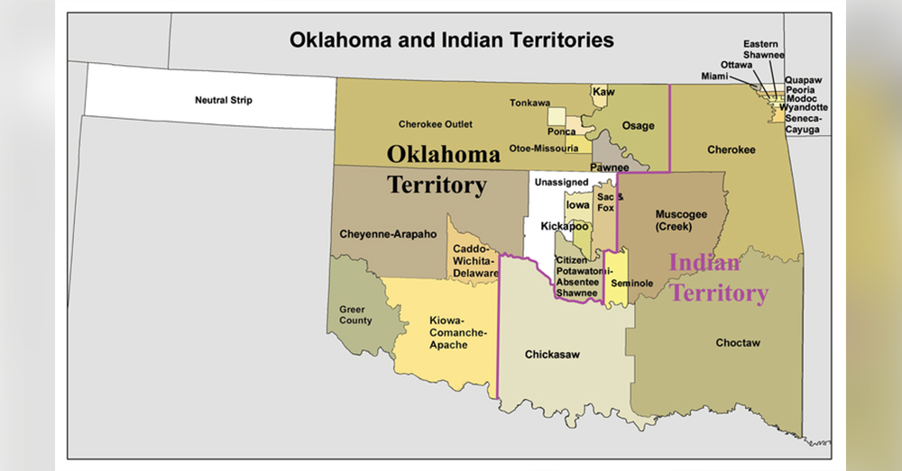 Most of eastern Oklahoma belongs to Native American tribes.