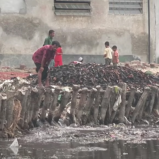 People who live along the polluted rivers have lost their main source of fresh water.