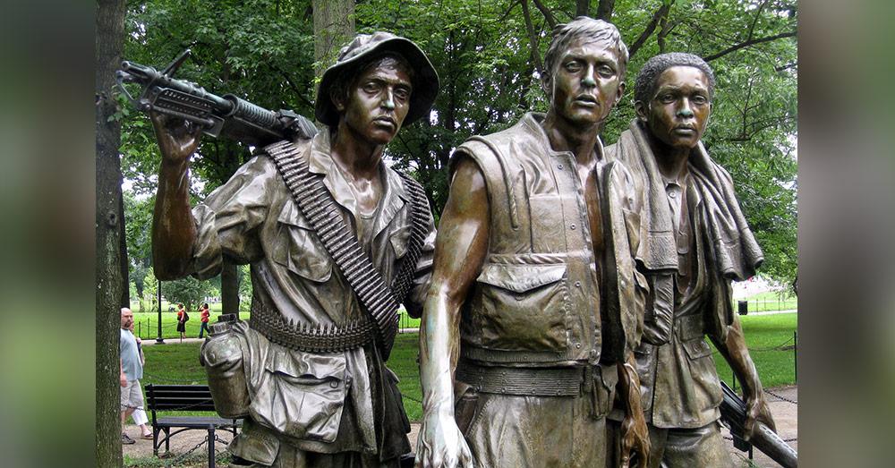 The Three Soldiers statue at the Vietnam Veterans Memorial.