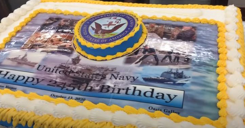 The finished Product. Happy birthday to the US Navy!