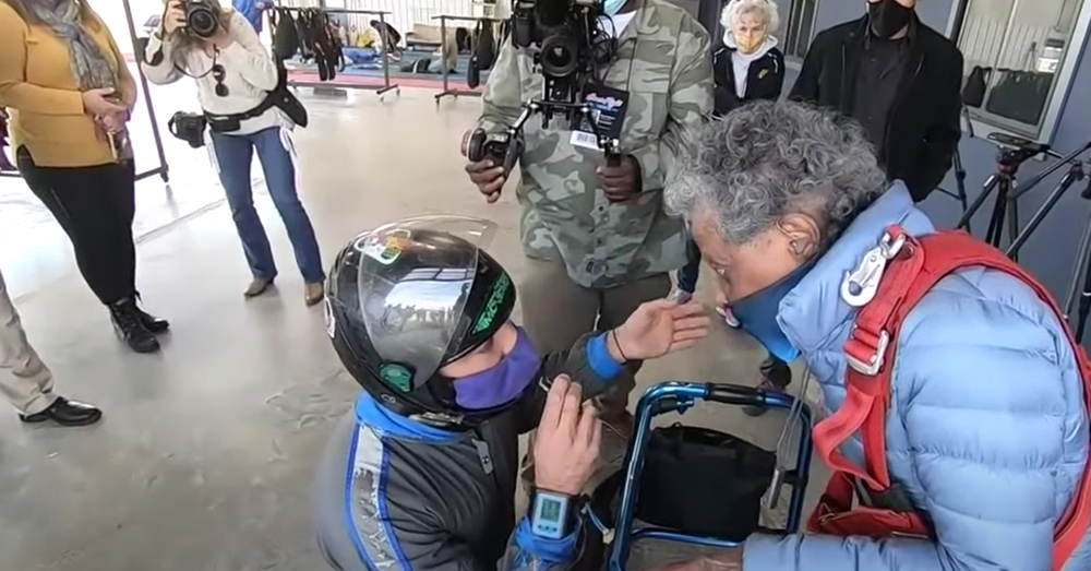 At 102, Bailey tried skydiving once more.