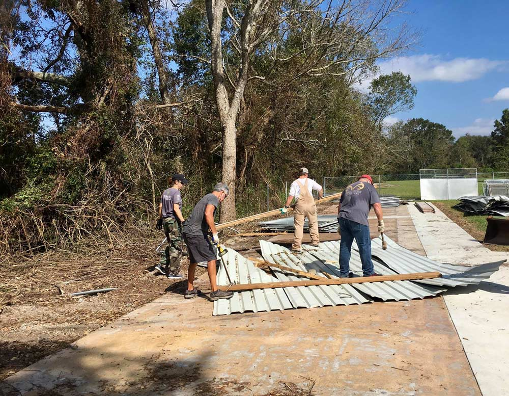 Your donations have helped provide AAA with essential items so they can concentrate on rebuilding.