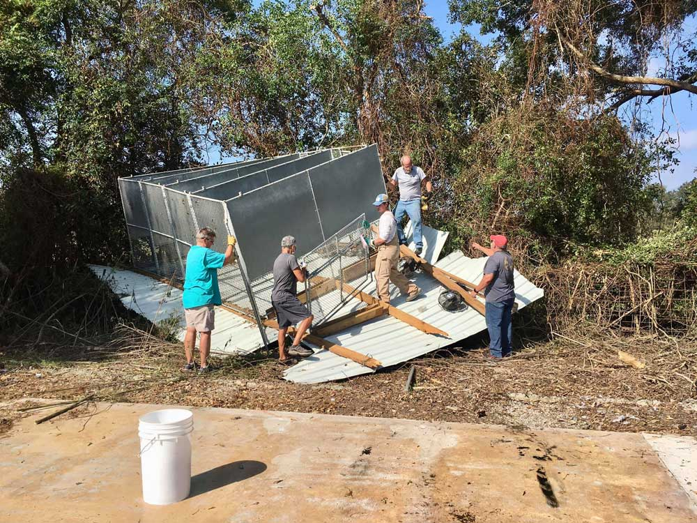Hurricane Delta destroyed some of Acadiana Animal Aid's kennels.