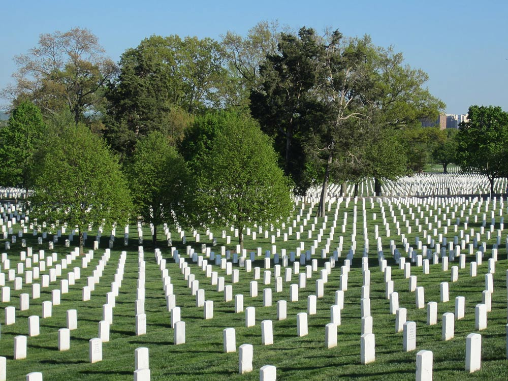 The bodies of about 400,000 American troops and veterans of the U.S. Armed Forces are buried at Arlington National Cemetery.