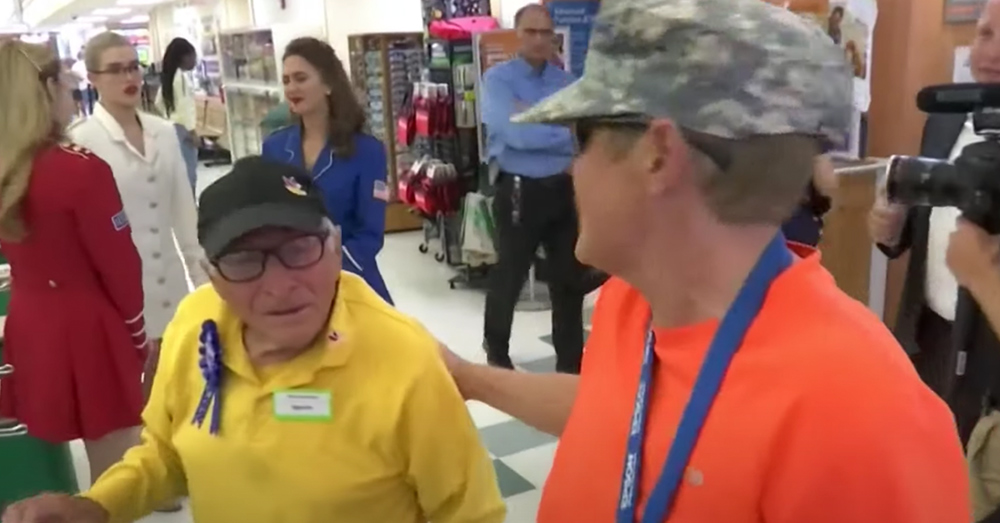 Bennie was working part time as a grocery bagger at his local supermarket when he turned 98.