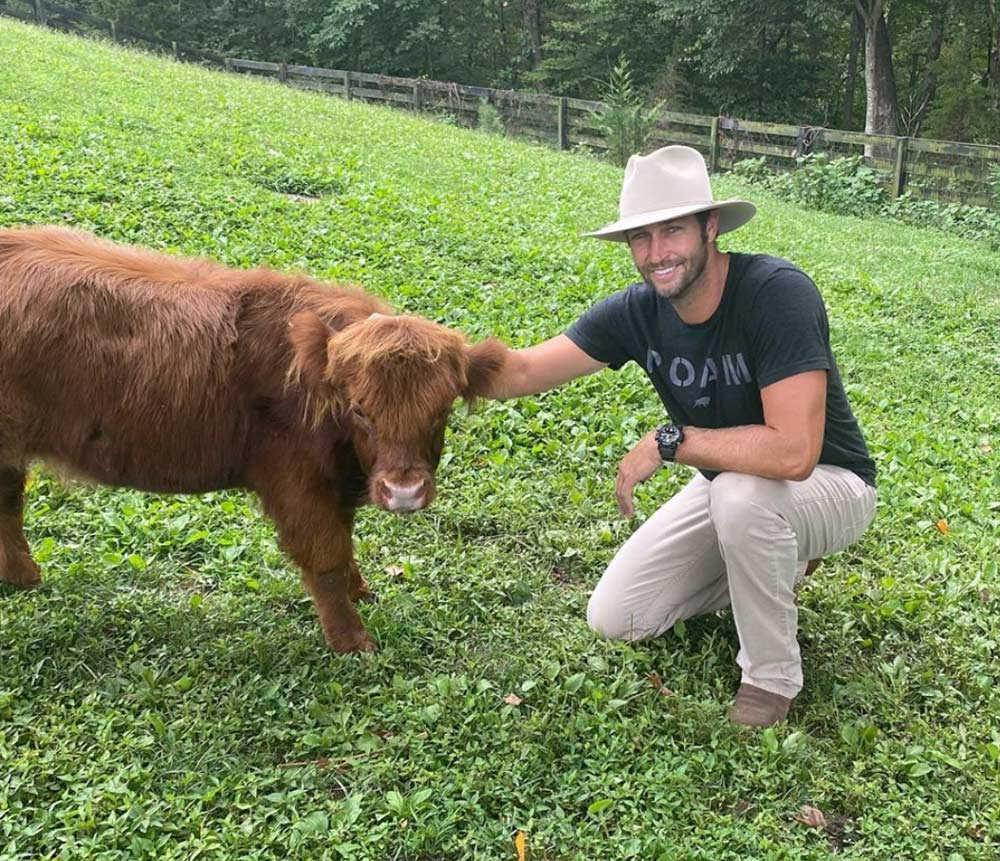 Cutler lives in Tennessee where he raises farm animals.