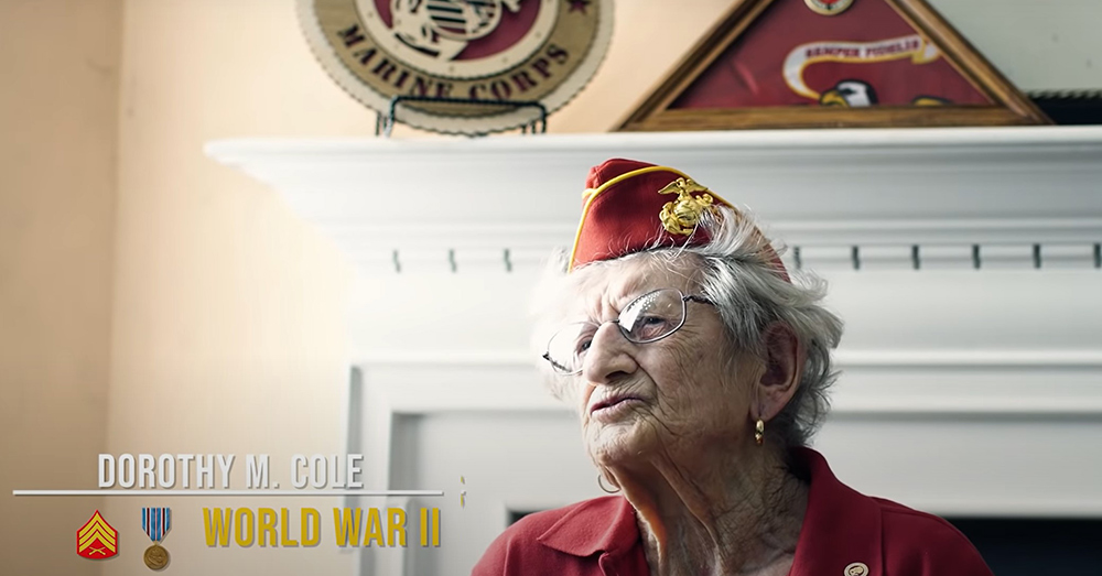 Dorothy M. Cole served in World War II.