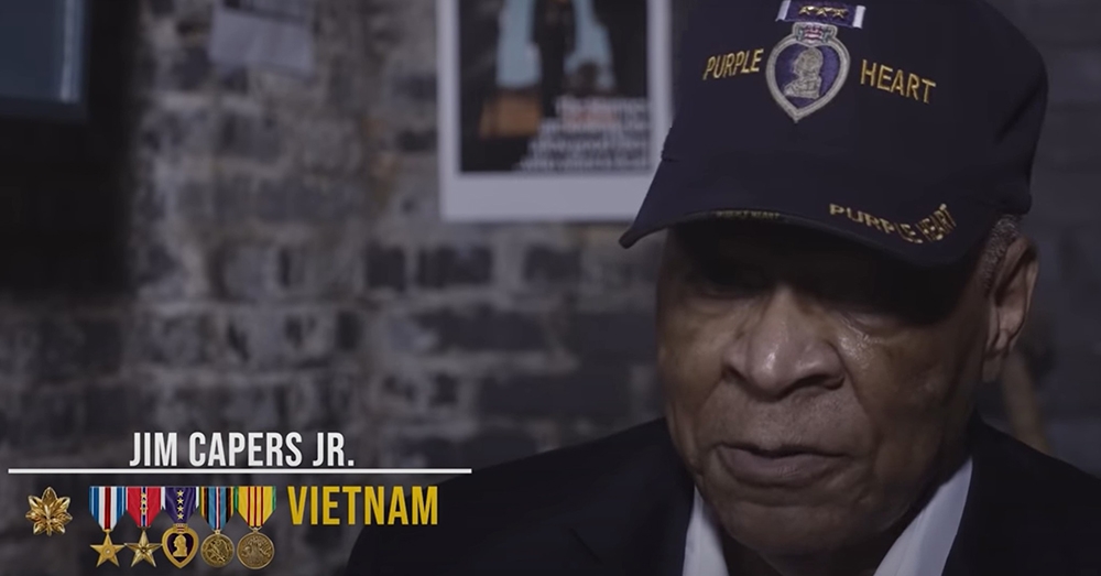 Jim Capers Jr. served in the Vietnam War.