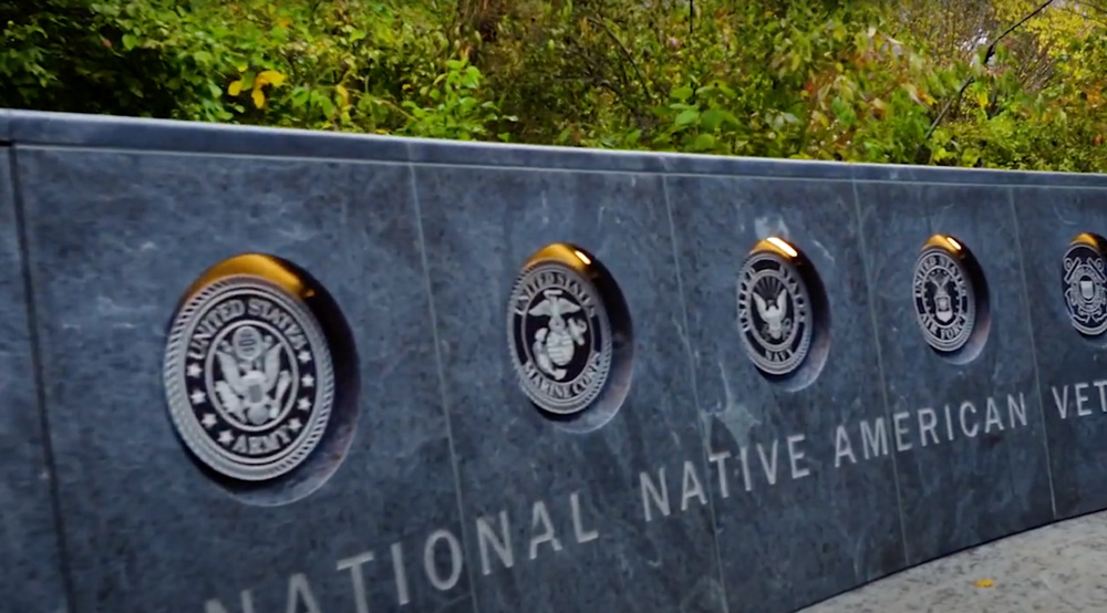 The monument honors Native Americans from every branch of the military.