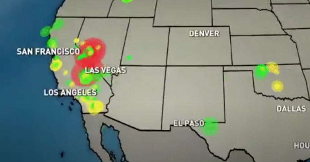 Several earthquakes were recorded in Nevada.