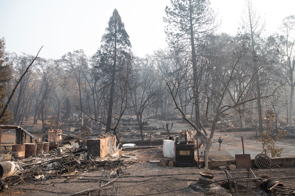 The Camp Fire left Paradise California, in ruins.