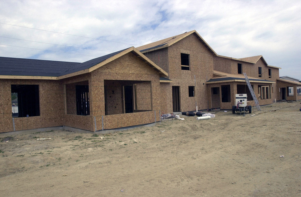 New base housing being constructed at Camp Lejeune.