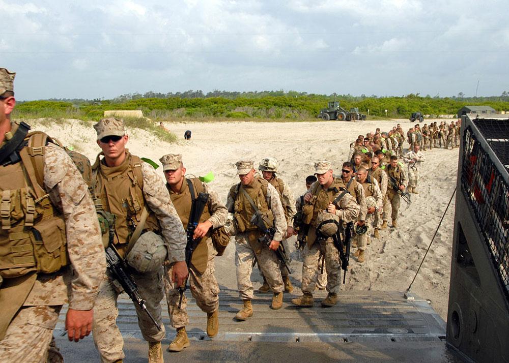 Marines stationed at Camp Lejeune, 2008.