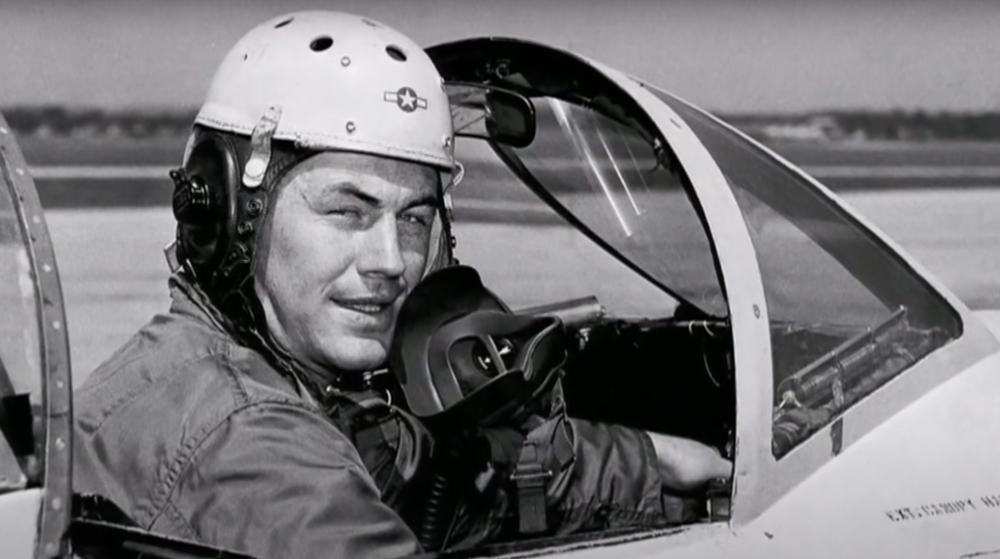 Yeager was a pilot in World War II.
