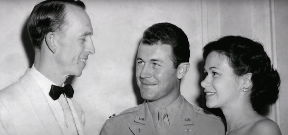 Yeager married his sweetheart after returning home from the war.