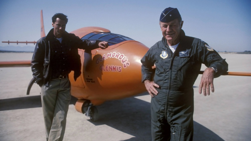 Yeager was an ace pilot in WWII and went on to work in the space program.