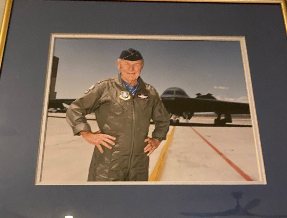 A signed photo of Yeager, presented at pilot training graduation in 1995.