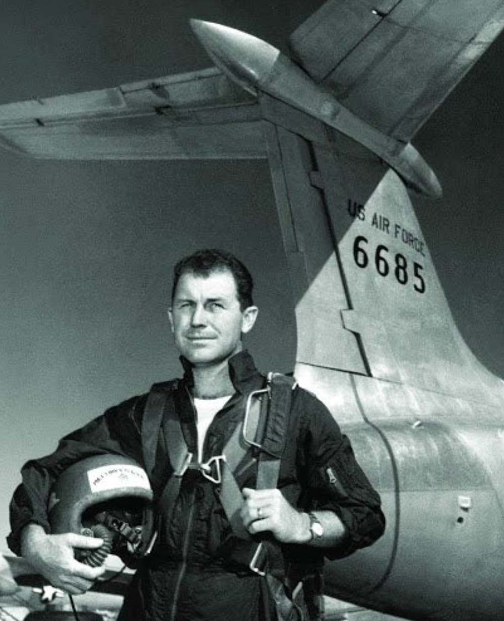 Yeager was the first man to break the sound barrier in 1947.