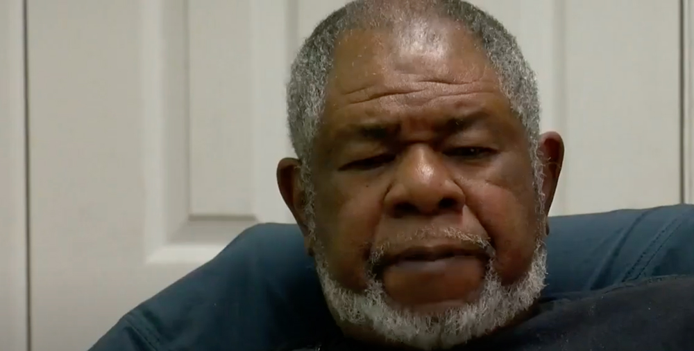 Army veteran Larry Abrams was homeless in Baton Rouge, LA.