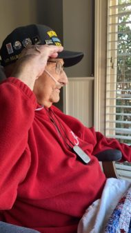 world war II veteran covid survivor