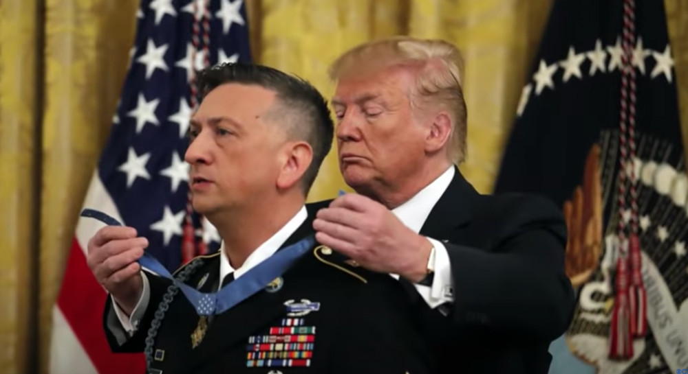 SSgt David Bellavia was awarded the Medal of Honor for his actions.