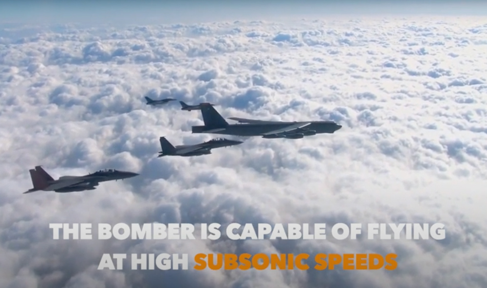 The B-52 provides unmatched offensive support from on high.