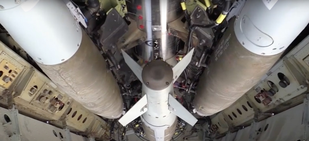 The B-52 can be outfitted with tens of thousands of pounds of weaponry.